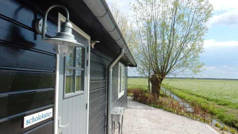 Vakantiehuisje 'De Scholekster', landelijk, rust, natuur en water