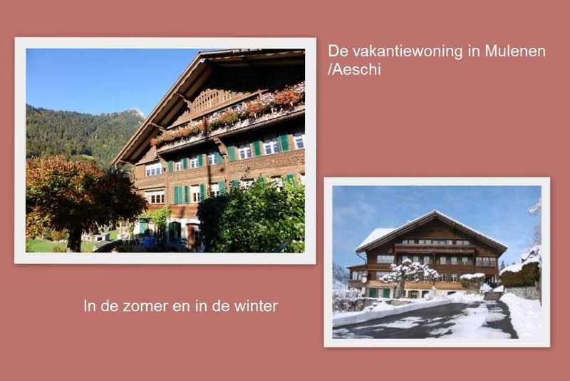 Te huur, mooie vakantie woningen in het Berner Oberland.